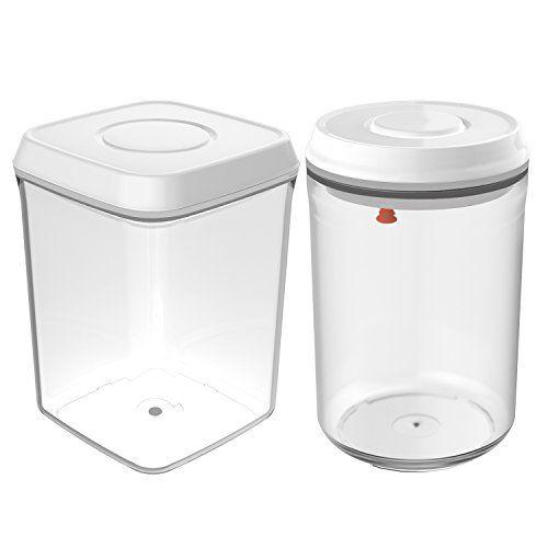 Nuovoware 2 Pieces 131 Quart Pop Container Airtight Food
